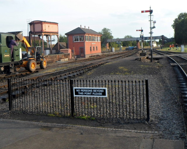 Beyond the platform at Kidderminster Town railway station