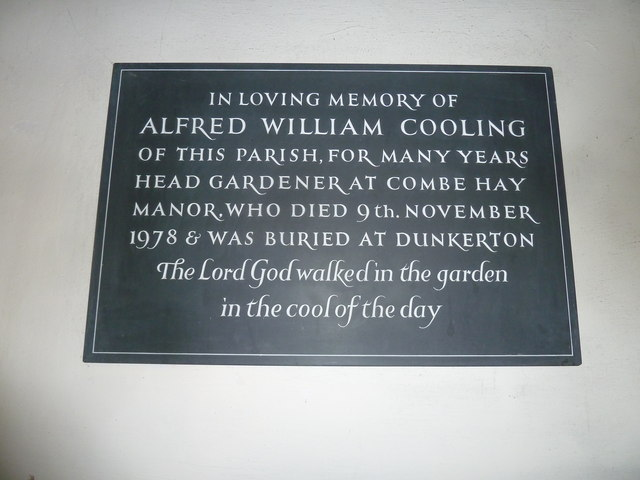 Combe Hay Church: memorial (1)