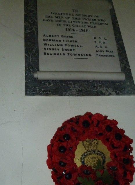 Combe Hay Church: war memorial