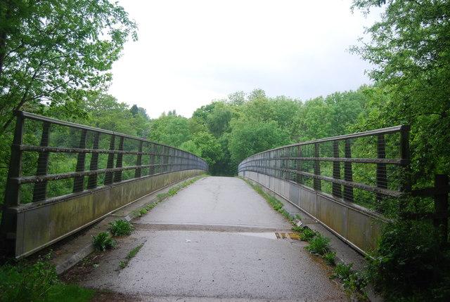 Footbridge over the M23