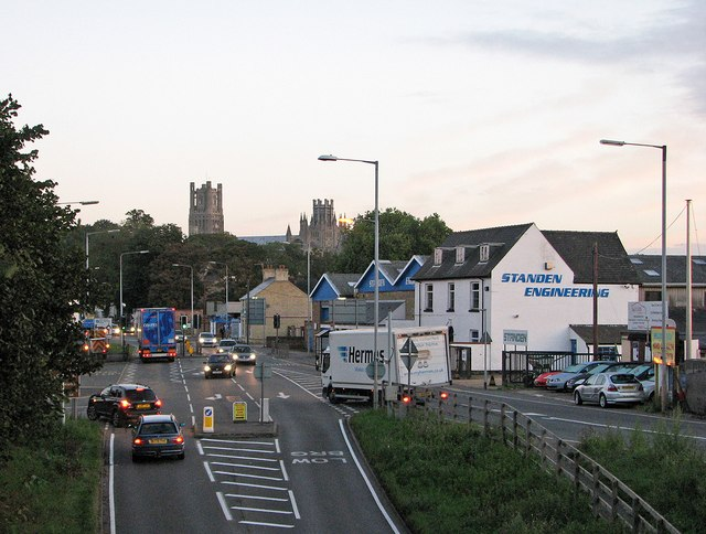Early-morning traffic in Ely