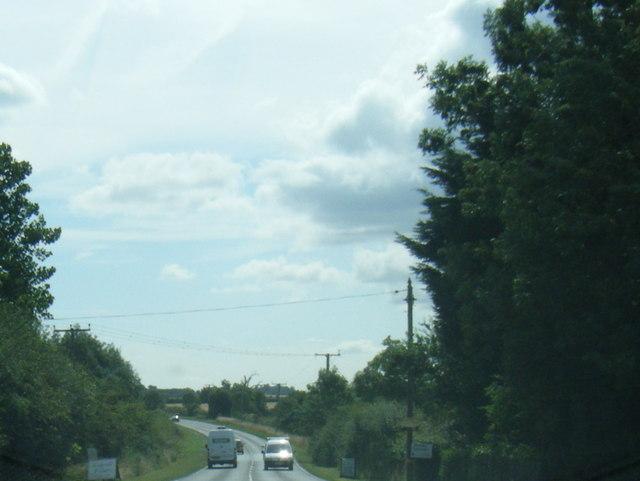 A158 eastbound near Brickyard Farm
