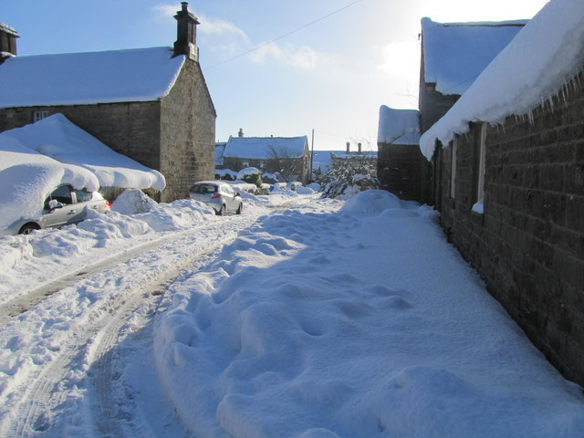 The village of Cambo under heavy snow