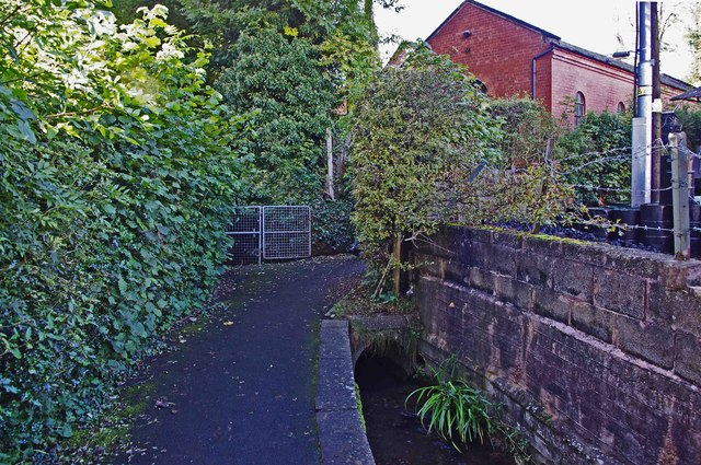 Pudding Brook and footpath, Cleobury Mortimer, Shrops