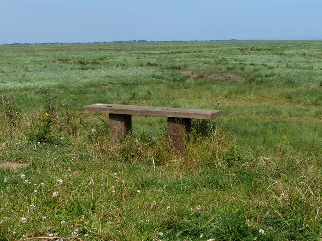 Bench on the sea bank