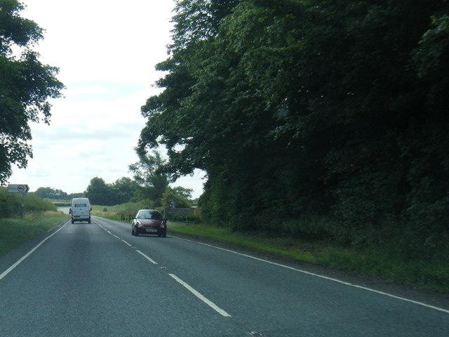 A158 eastbound at Edlington