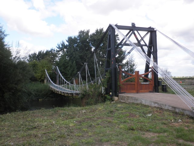 Private suspension bridge, leading to Coldharbour House