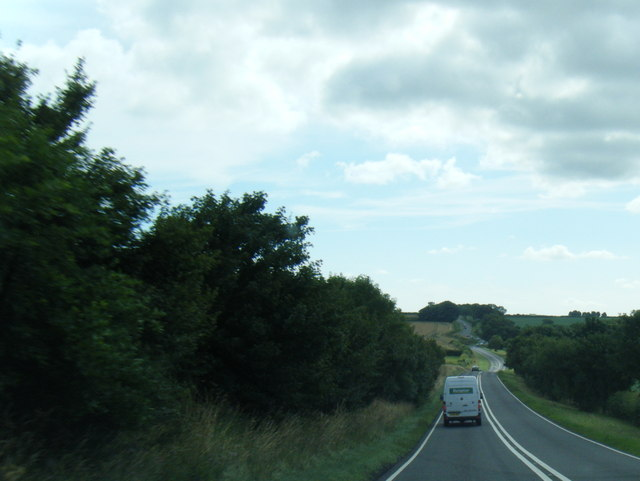 A158 eastbound at Thunker Hollow
