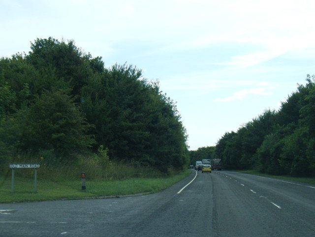A158/Old Main Road junction