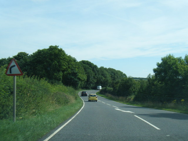 A158 eastbound near The Ings