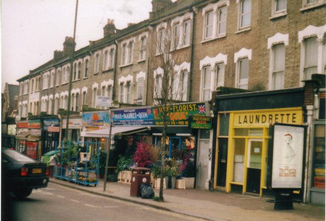 Shops on Harlesden High Street, 2001
