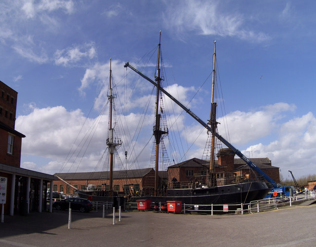 Dry dock at Gloucester