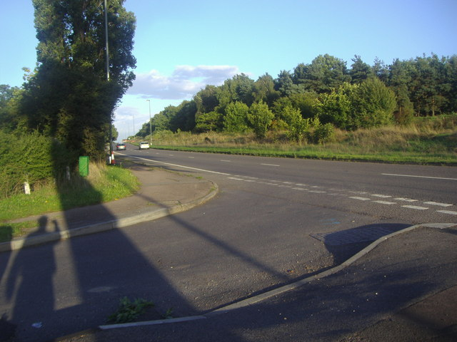 Kingston Bypass sliproad at the junction of Woodstock Lane North