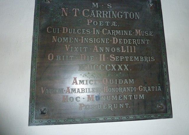Combe Hay Church: memorial (2)