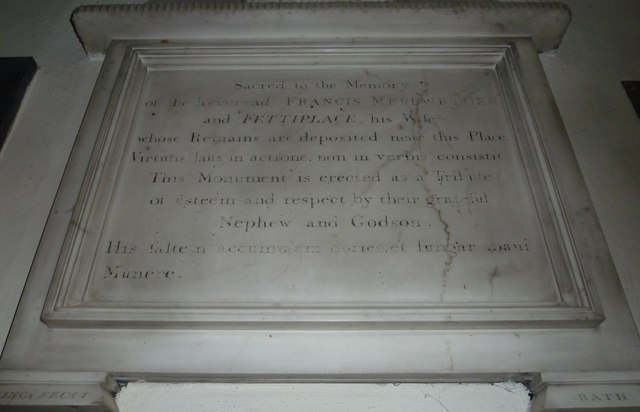 Combe Hay Church: memorial (4)