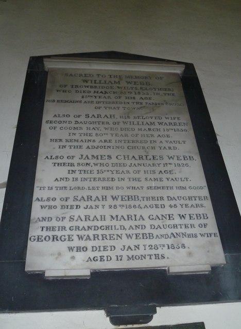 Combe Hay Church: memorial (5)