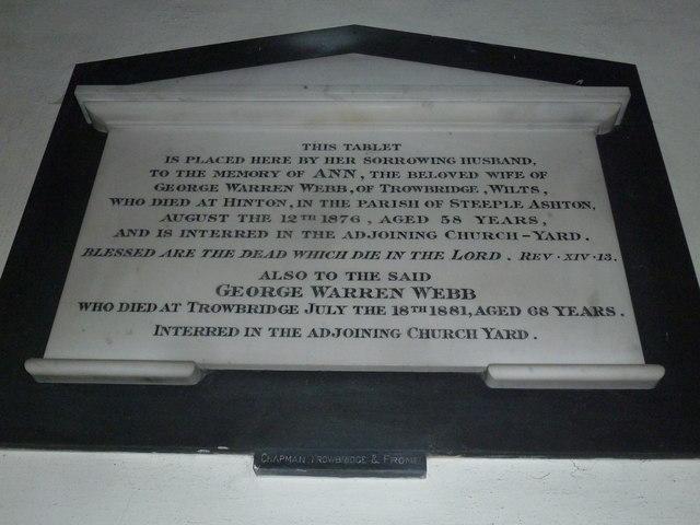 Combe Hay Church: memorial (6)