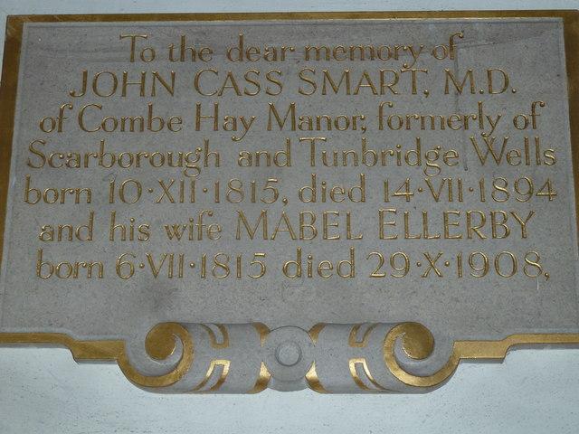 Combe Hay Church: memorial (8)