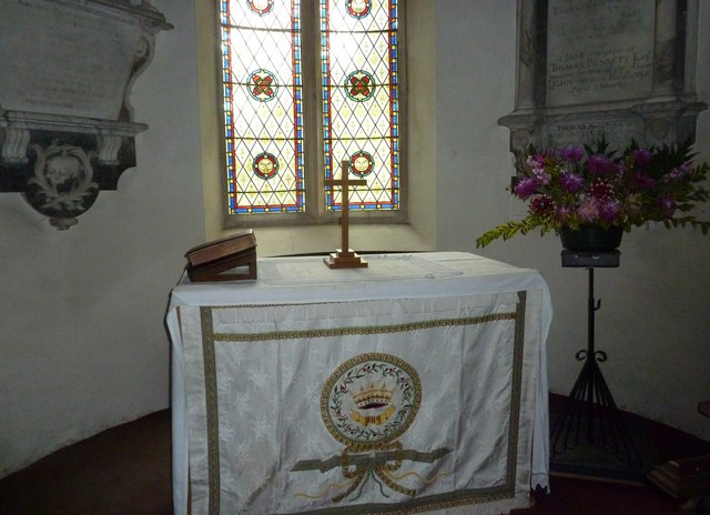 Combe Hay Church: altar
