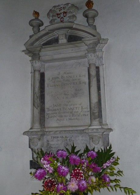 Combe Hay Church: memorial (11)