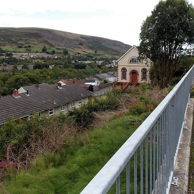Rooftop view from Mount Pleasant Blaina