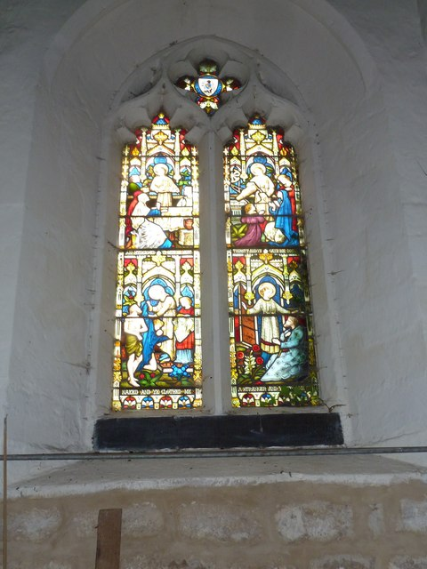 Combe Hay Church: stained glass window (ii)