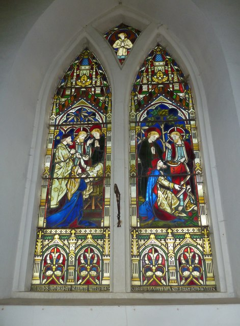 Combe Hay Church: stained glass window (iii)