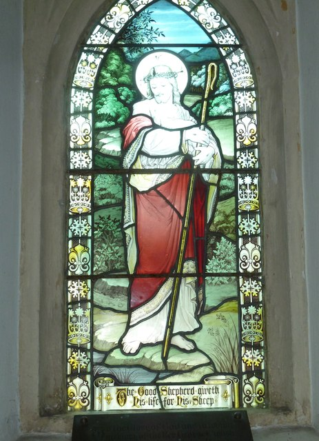 Combe Hay Church: stained glass window (iv)