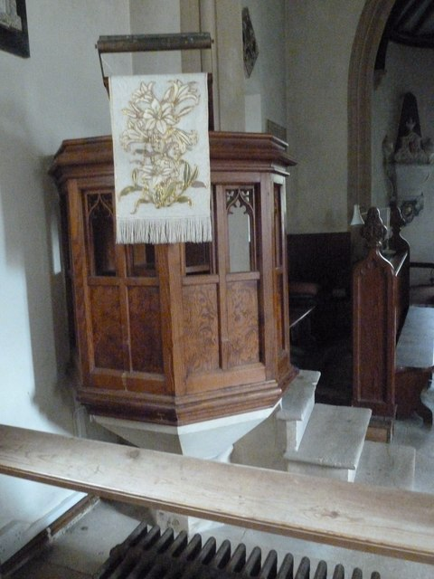 Combe Hay Church: pulpit