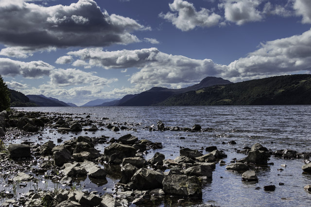 Rocky Eastern shores of Loch Ness