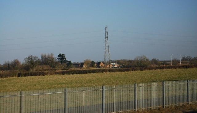 View towards Curborough Hall Farm