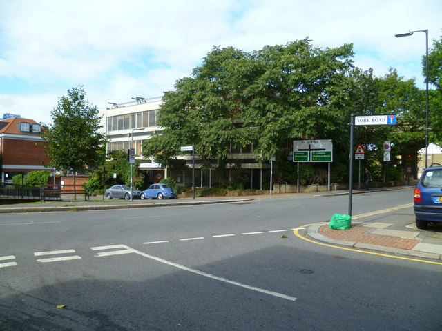 Looking across Windmill Road (B452) from York Road