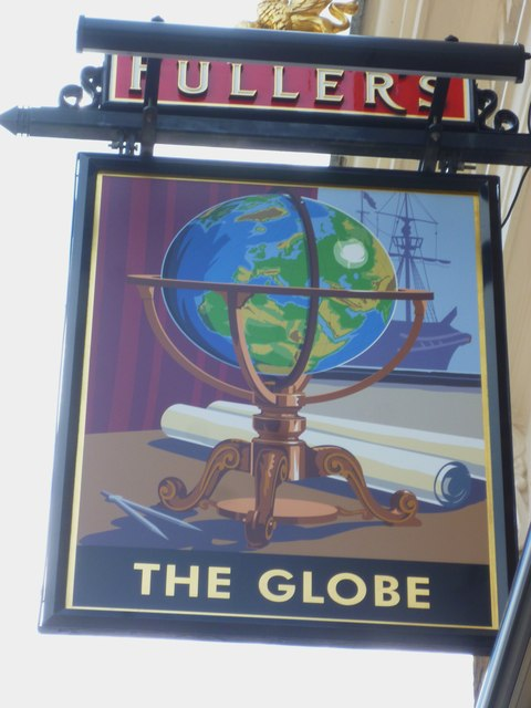"Sign at ""The Globe"" PH on Windmill Road"