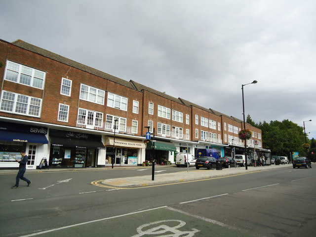 Shopping parade, Northwood