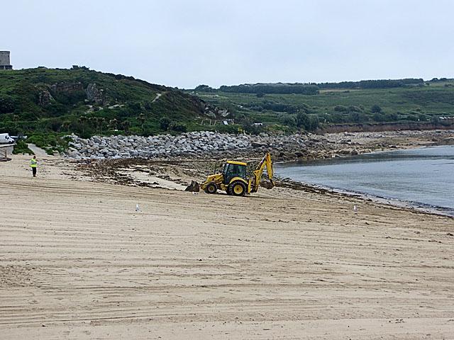 Currying Porthcressa Beach