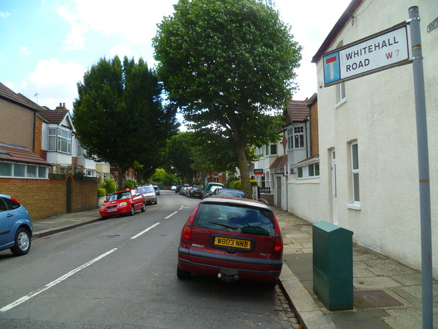 Looking into Whitehall Road