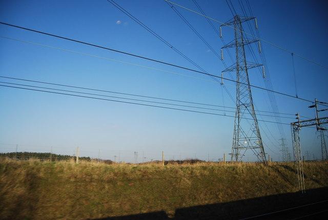 Pylon by the West Coast Main Line