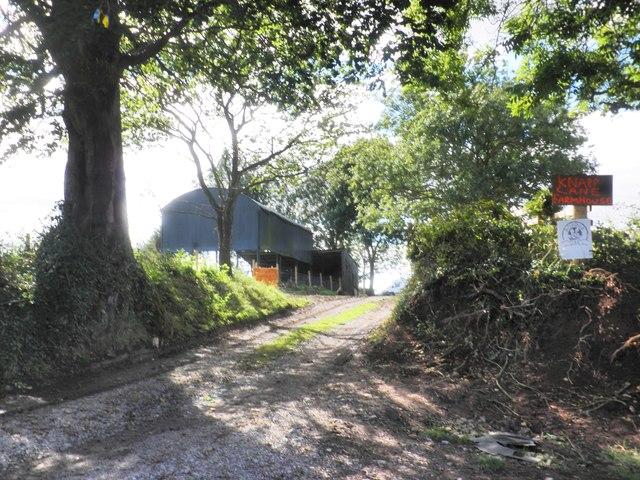 Track to Knapp Lane Farmhouse