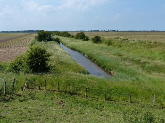 Drain across Frampton Marsh