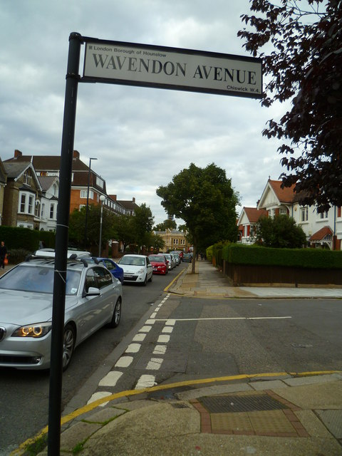 Looking north on Sutton Court Road from Wavendon Avenue