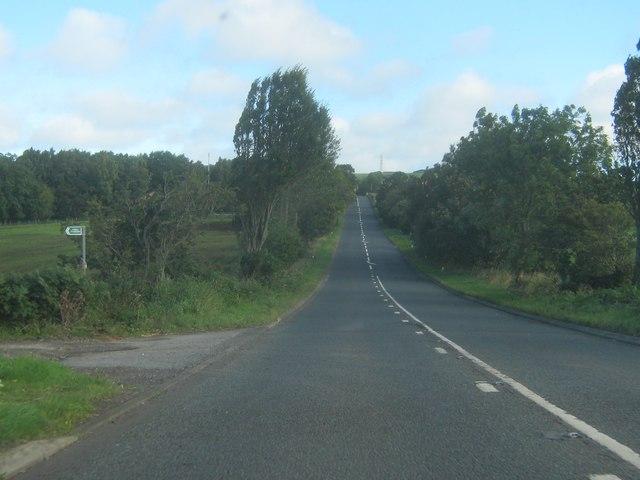 The A68 nearing Fir Tree