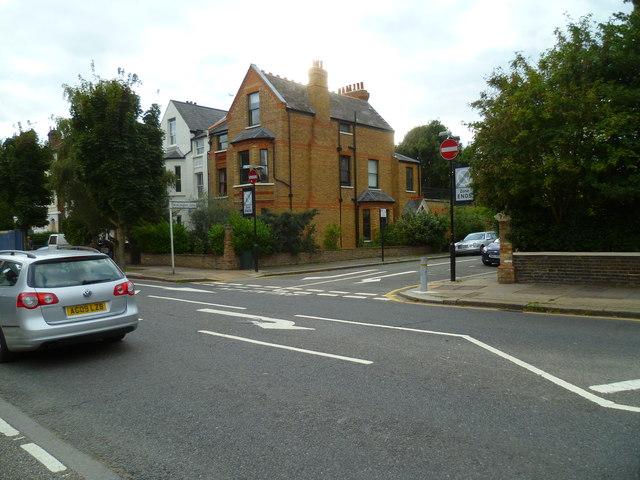 Junction of Burlington Gardens with Sutton Court Road