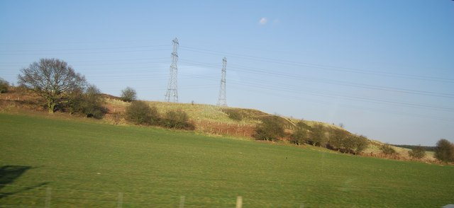 Pylons on a hill