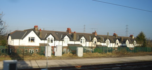 Row of houses near Rugeley Station