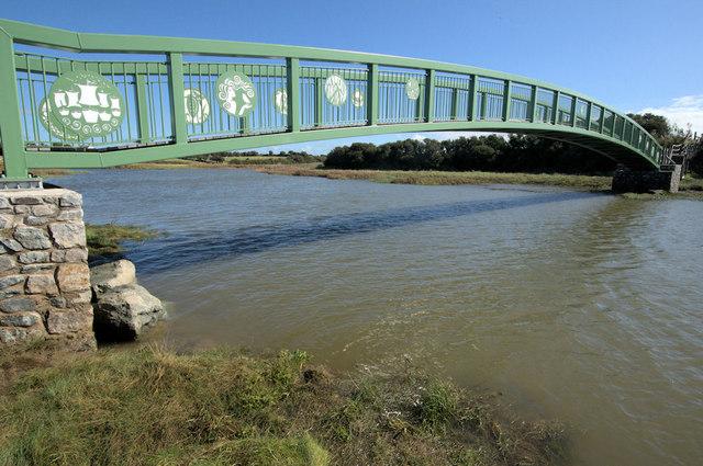 Footbridge on Anglesey Coastal Path near Llanfachraeth