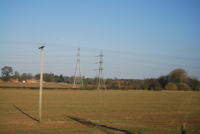 Pylons by Colton Rd