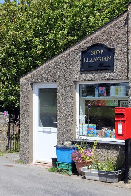 Village store at Llangian