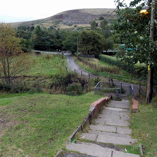 Steps down from Glan Ebbw, Blaina