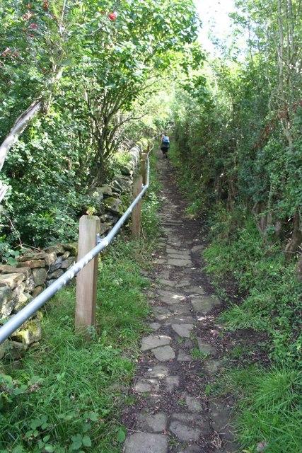 Footpath near Riber Castle