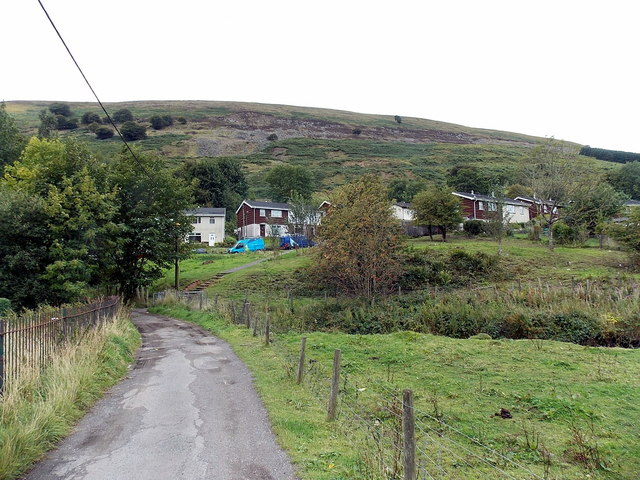 Hillside view from the Ebbw Fach valley in Blaina
